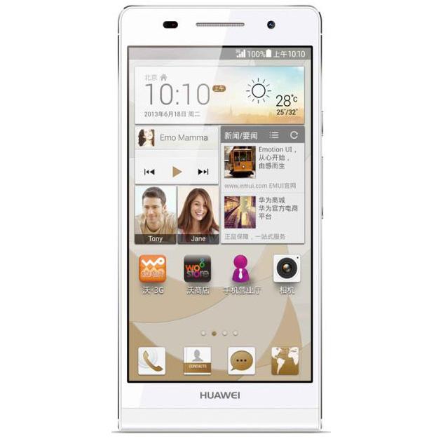 华为 HUAWEI Ascend P6 S 双卡双待双通 联通3G手机 WCDMA/GSM