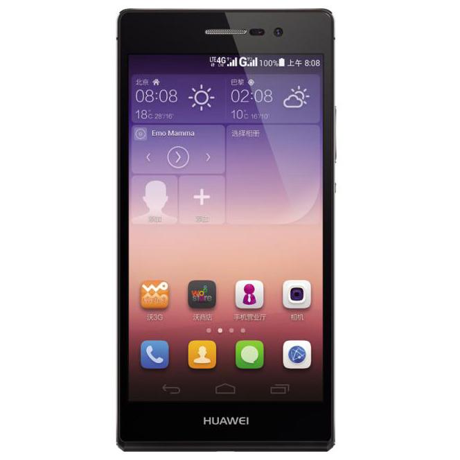 华为 HUAWEI Ascend P7 联通4G双卡超薄手机 全新Emotion UI 2.3